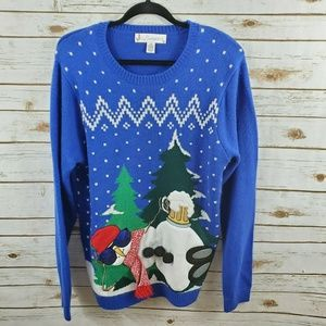 Jolly Sweaters Ugly Christmas Sweater 3D Large